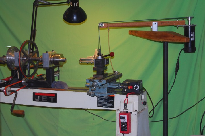 Custom ornamental rose engine lathe overhead drive for Shop hoist plans