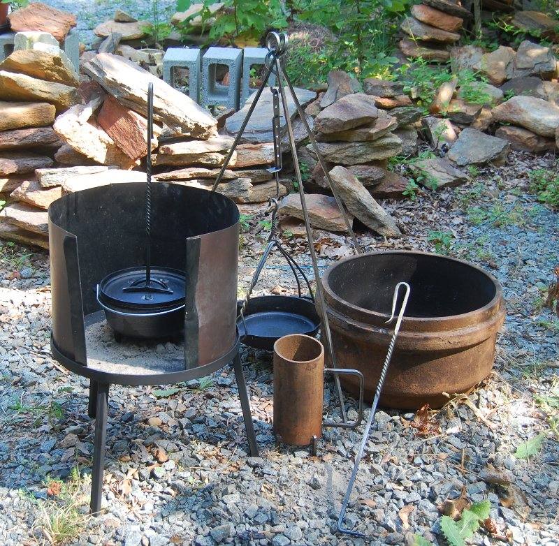 Dutch Oven Camping Fire Cast Iron Cooking Equipment ...
